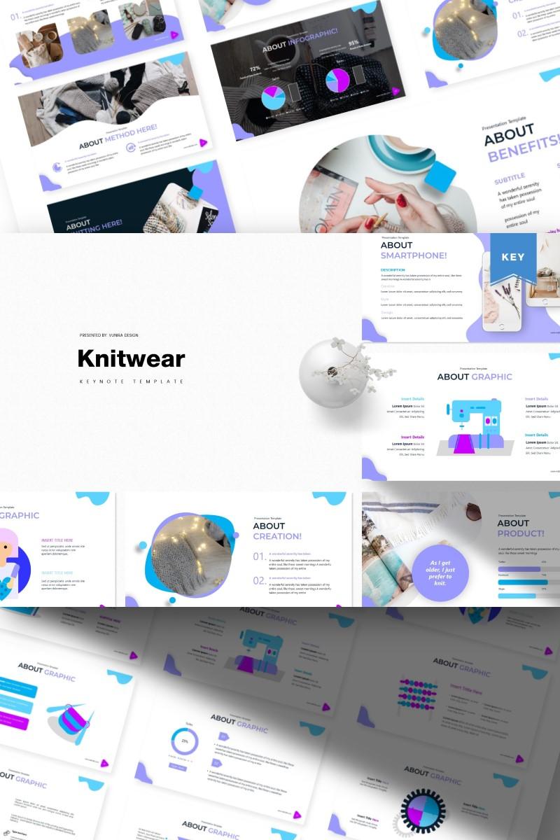 """Knitwear  "" Keynote Template №87142 - screenshot"