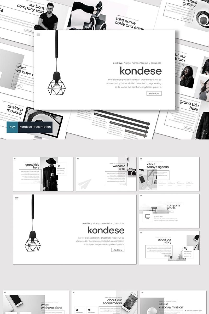 """""""Kondese"""" - Keynote шаблон №87111 - скріншот"""