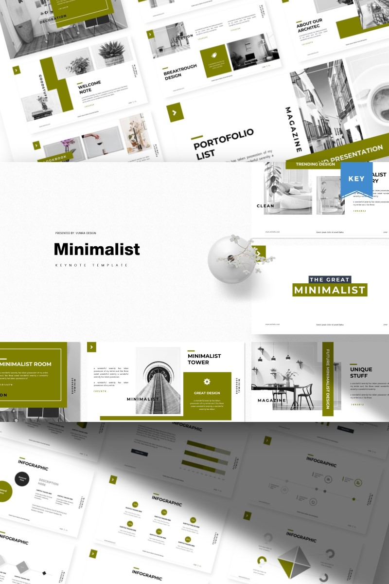 """Minimalist |"" Keynote模板 #87138 - 截图"