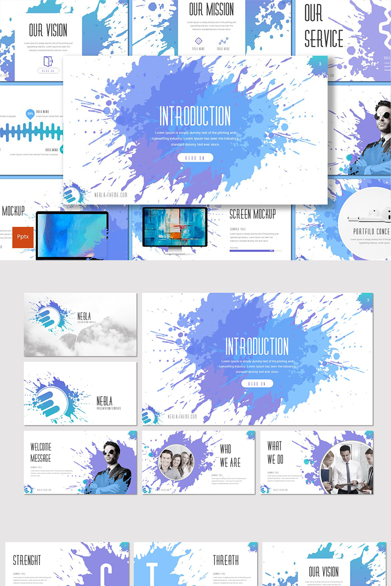 """Nebla"" PowerPoint Template №87188"