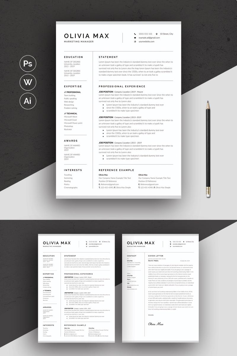 Olivia Max Minimal Resume #87104