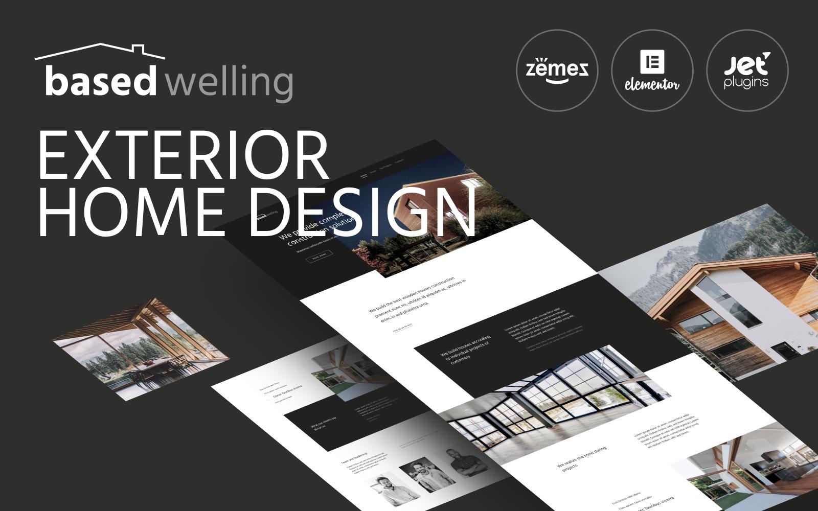 Responsivt BasedWelling - Exterior Home design website for everyone WordPress-tema #87189