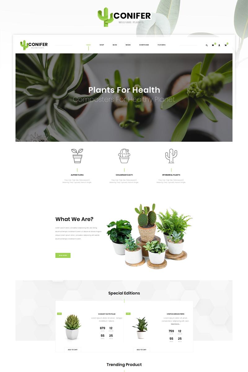 Reszponzív Conifer Plant Store WooCommerce sablon 87167