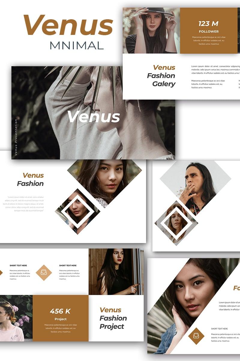 Reszponzív Venus Minimal Keynote sablon 87137 - képernyőkép