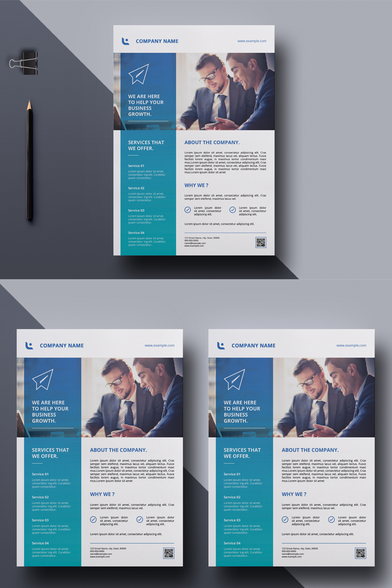 Sistec Blue Business Flyer Corporate Identity Template