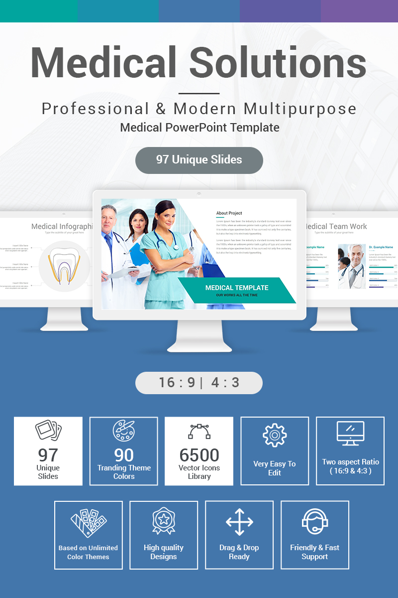"Tema PowerPoint #87159 ""Medical Solutions"""