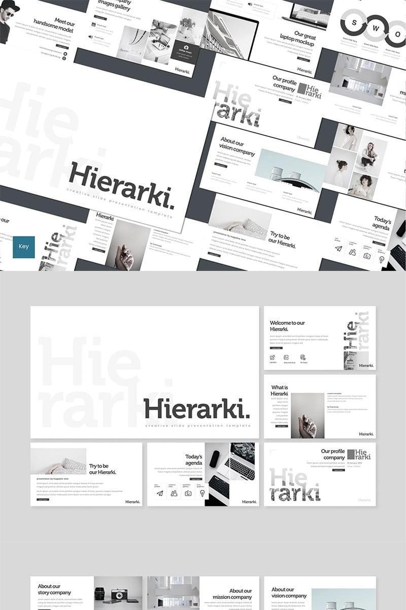 "Template Keynote #87115 ""Hierarki"" - screenshot"