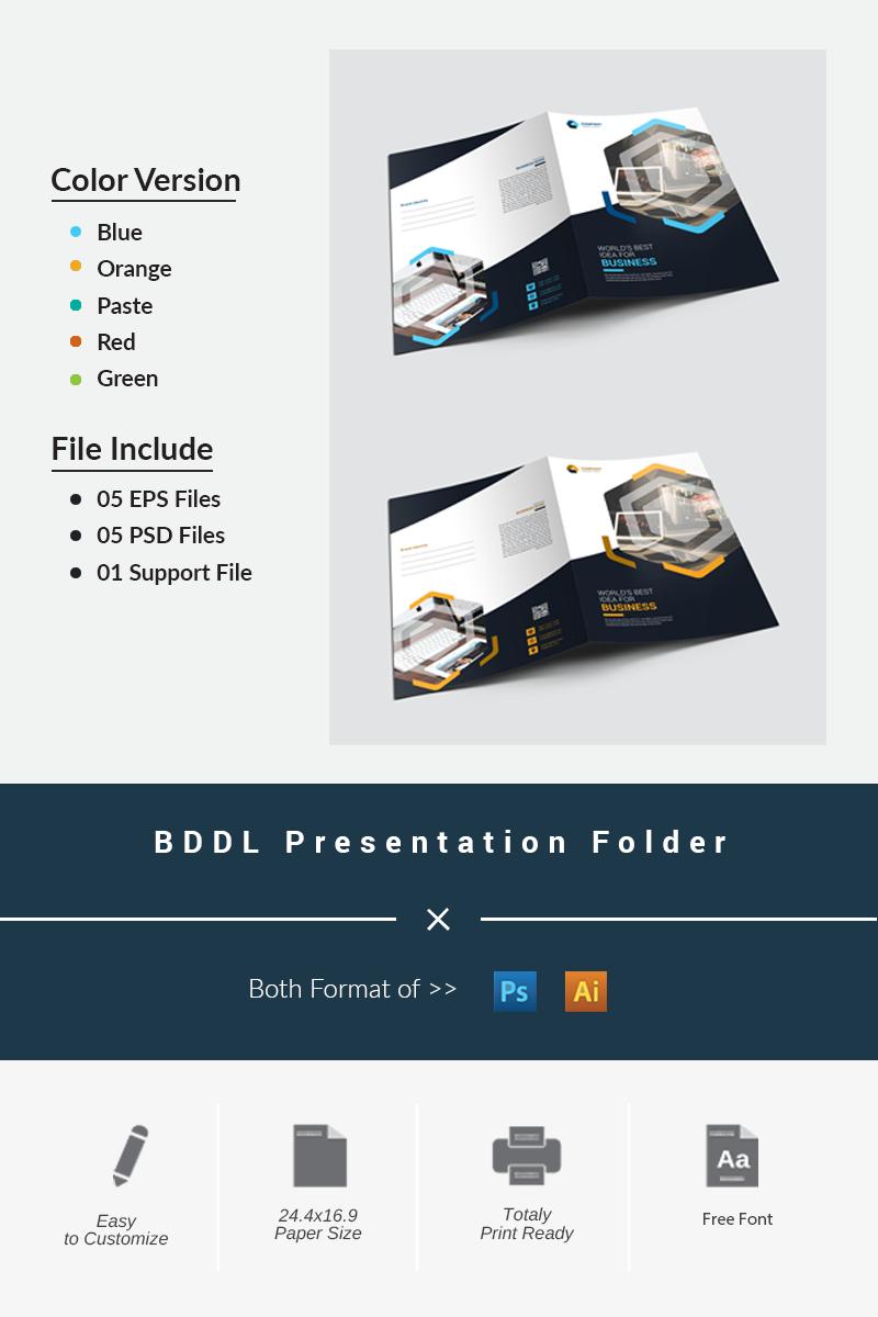 """Unternehmensidentität Vorlage namens """"BDDL Presentation Folder"""" #87198"""