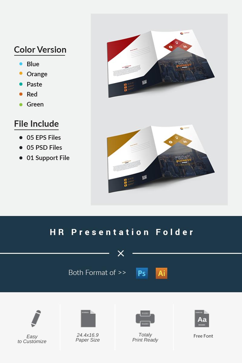 """Unternehmensidentität Vorlage namens """"HR Presentation Folder"""" #87197"""