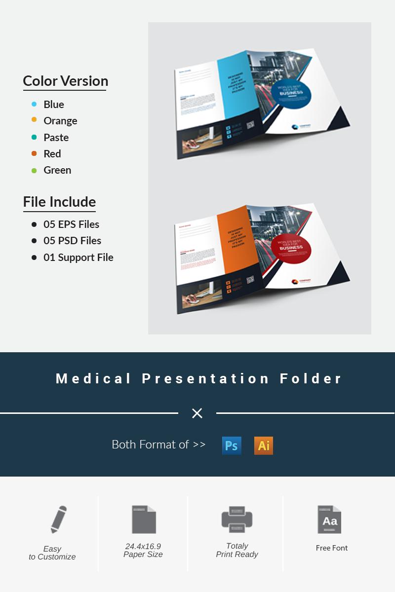 """Unternehmensidentität Vorlage namens """"Medical Presentation Folder"""" #87194"""