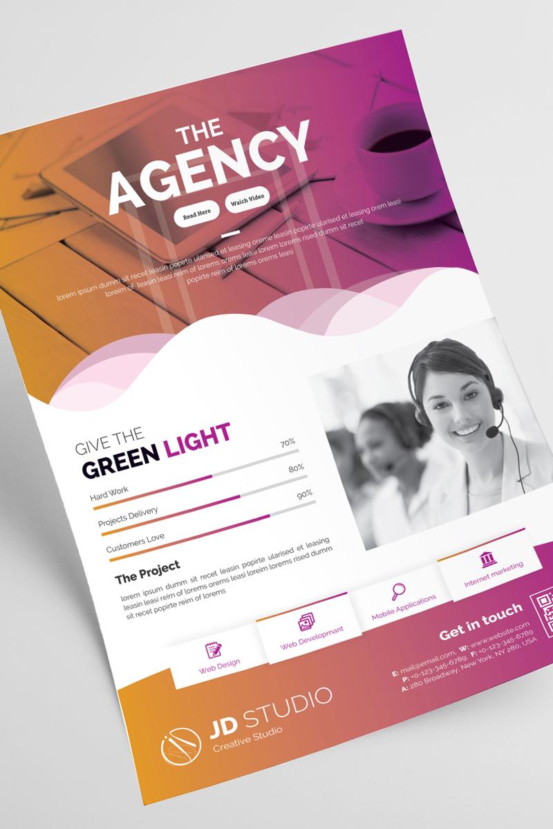 """Unternehmensidentität Vorlage namens """"The Agency Flyer"""" #87166"""