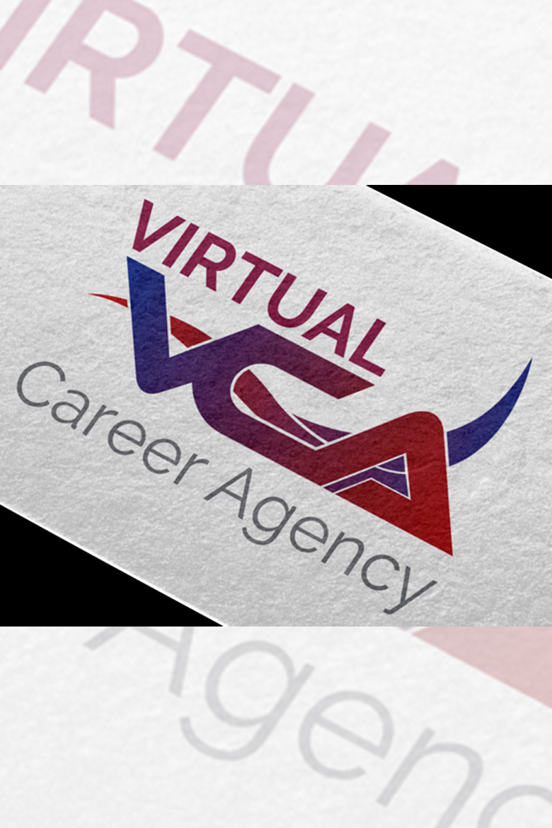 Virtual Career Agency Logo Template