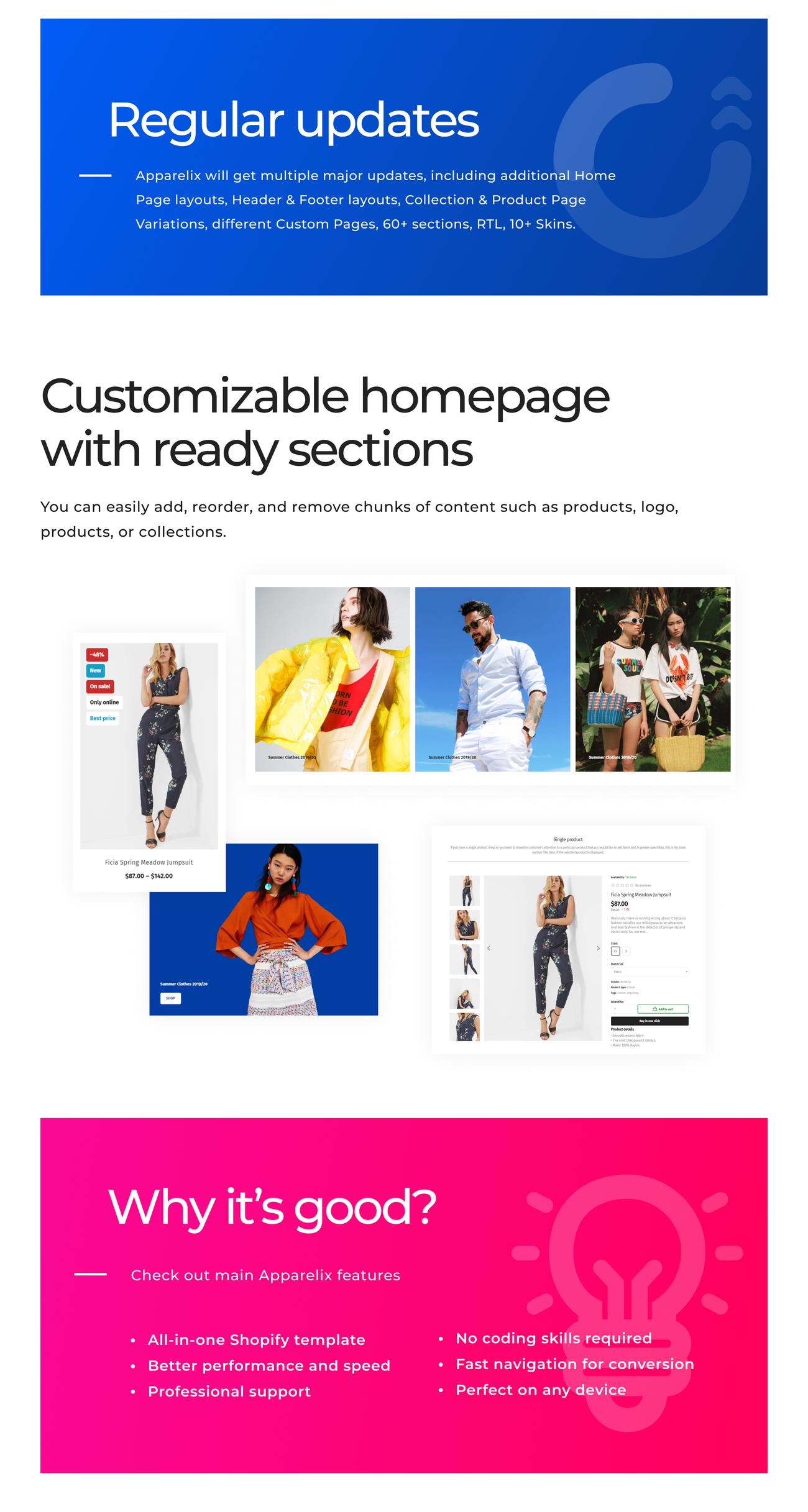 shopify theme, apparelix, apparel, closing, clothes, fashion