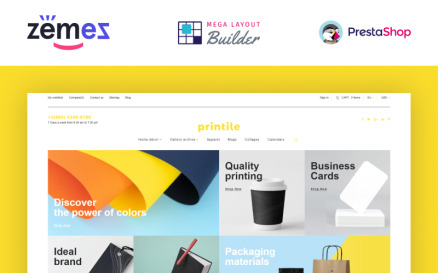 Printile - Print Shop Ecommerce Template PrestaShop Theme