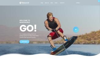 Wakeworld - Surfing Multipage Joomla Template