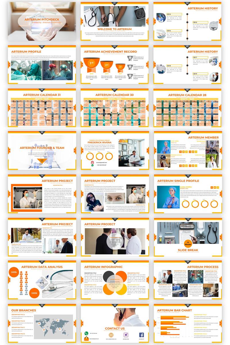"""""""Arterium - Creative Medic"""" Google Slides №87275"""