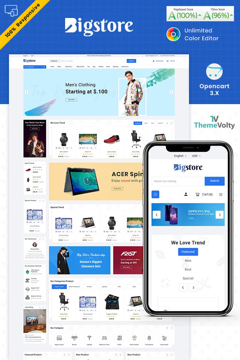 """Big Store - Mega Electronics Shop"" - адаптивний OpenCart шаблон №87255"