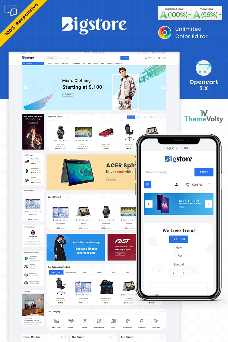 Big Store - Mega Electronics Shop Template OpenCart №87255