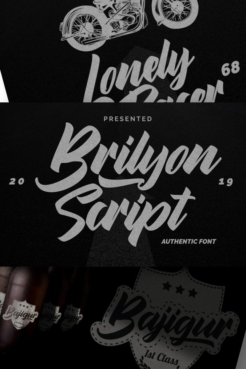 Brylion Script | Unique Authentic Betűtípus 87206
