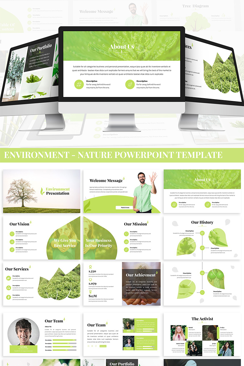 """""""Environment - Nature"""" PowerPoint 模板 #87288"""