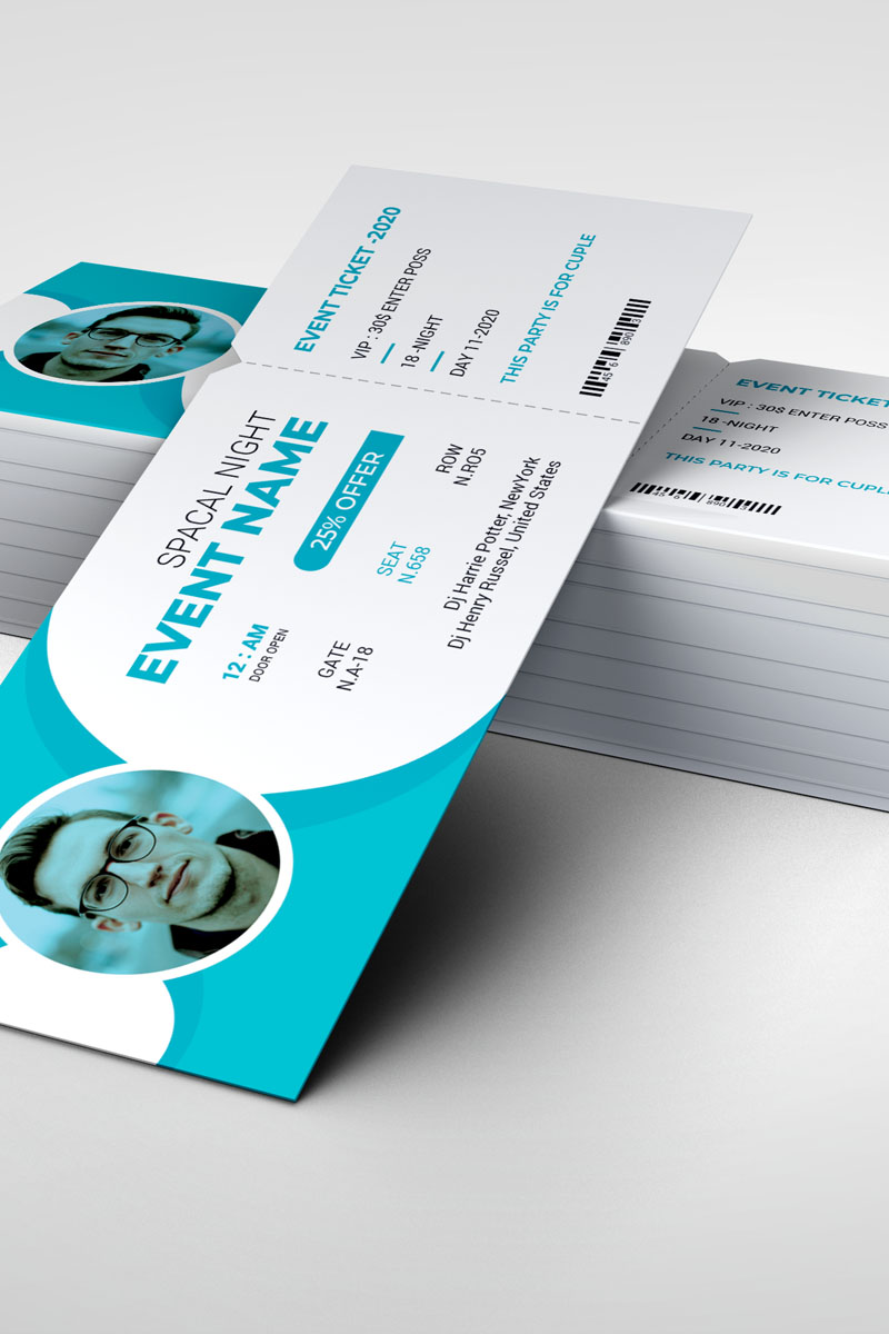 Event Ticket Vol_ 1 Corporate Identity Template
