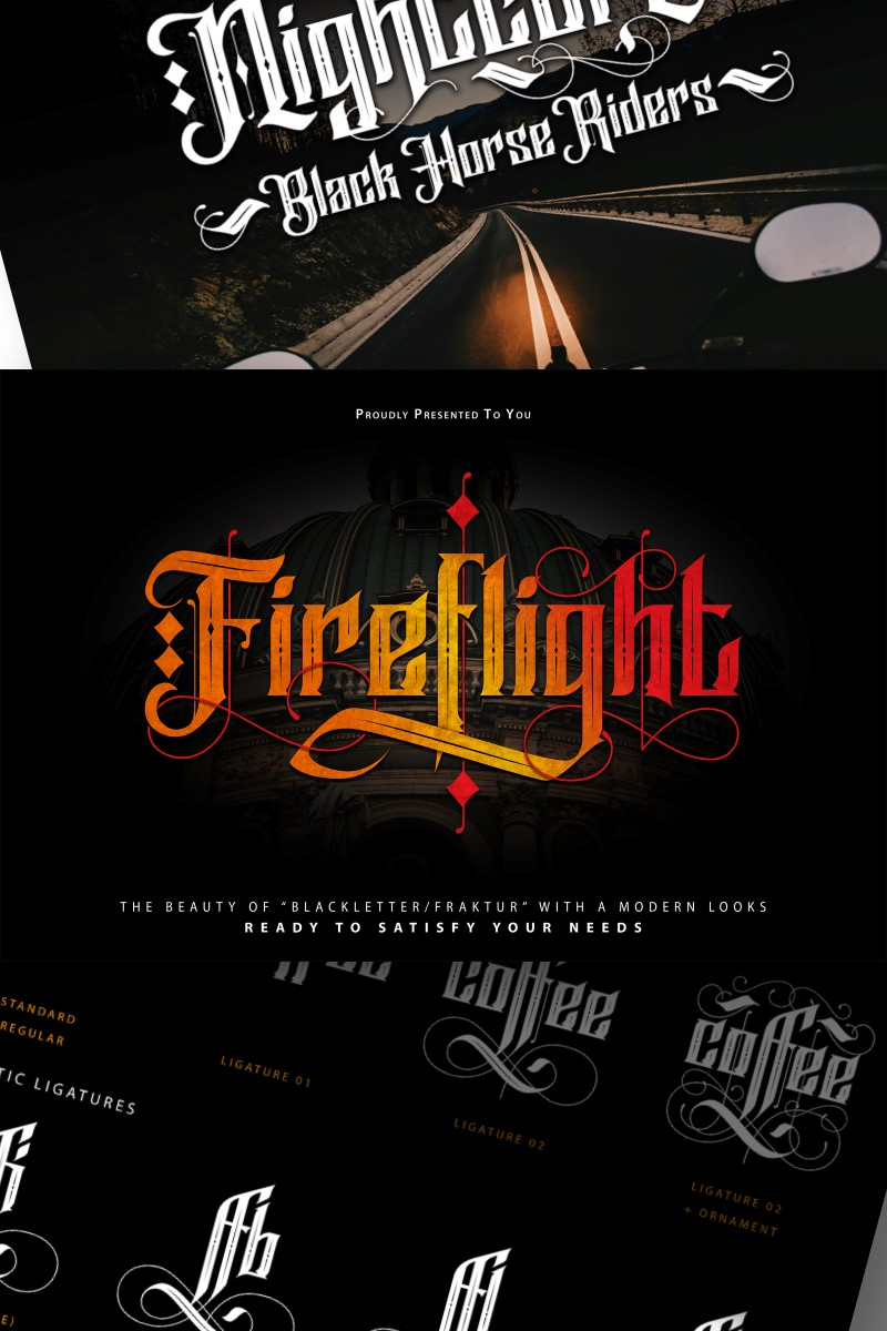 FireFlight | Blackletter Modern Fonte №87207