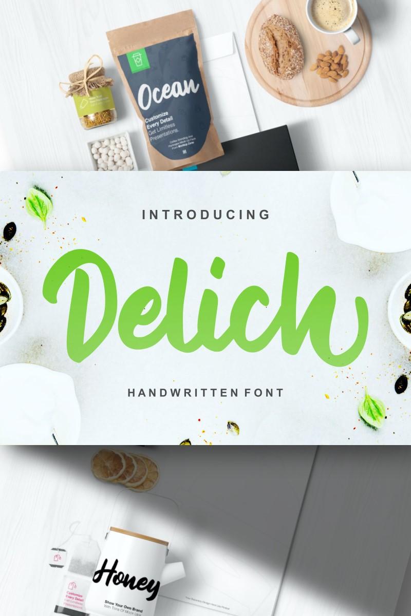 "Font ""Delich | Handwritten Script"" #87203"