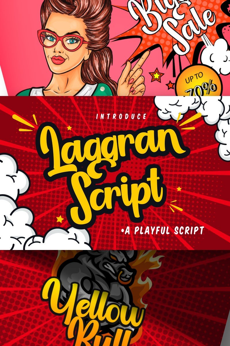"Font ""Laggran | Playful Script"" #87202"