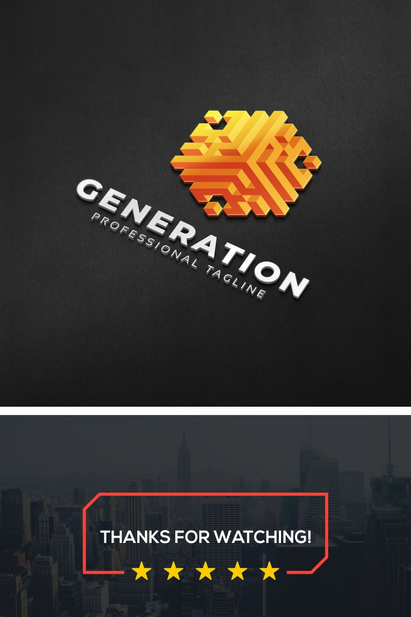 Generation 3D Logo Template