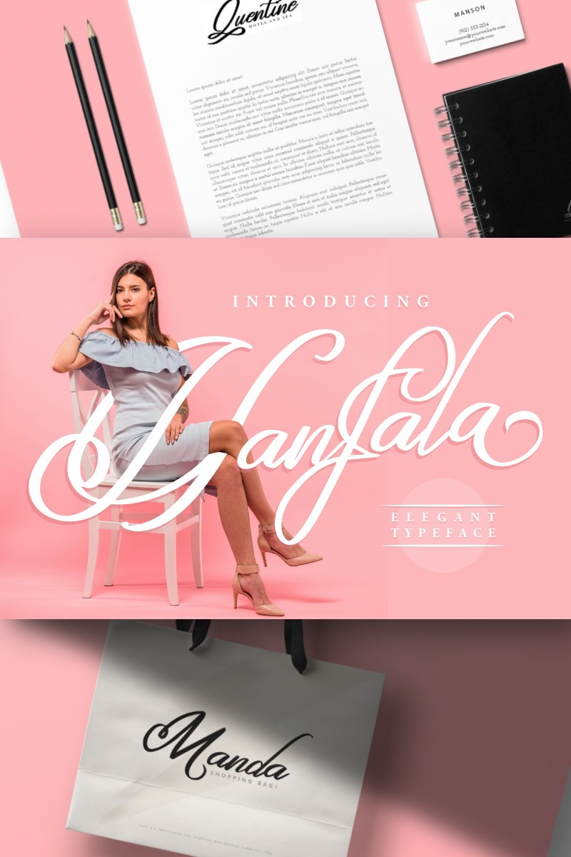 Hafala | Elegant Script Font