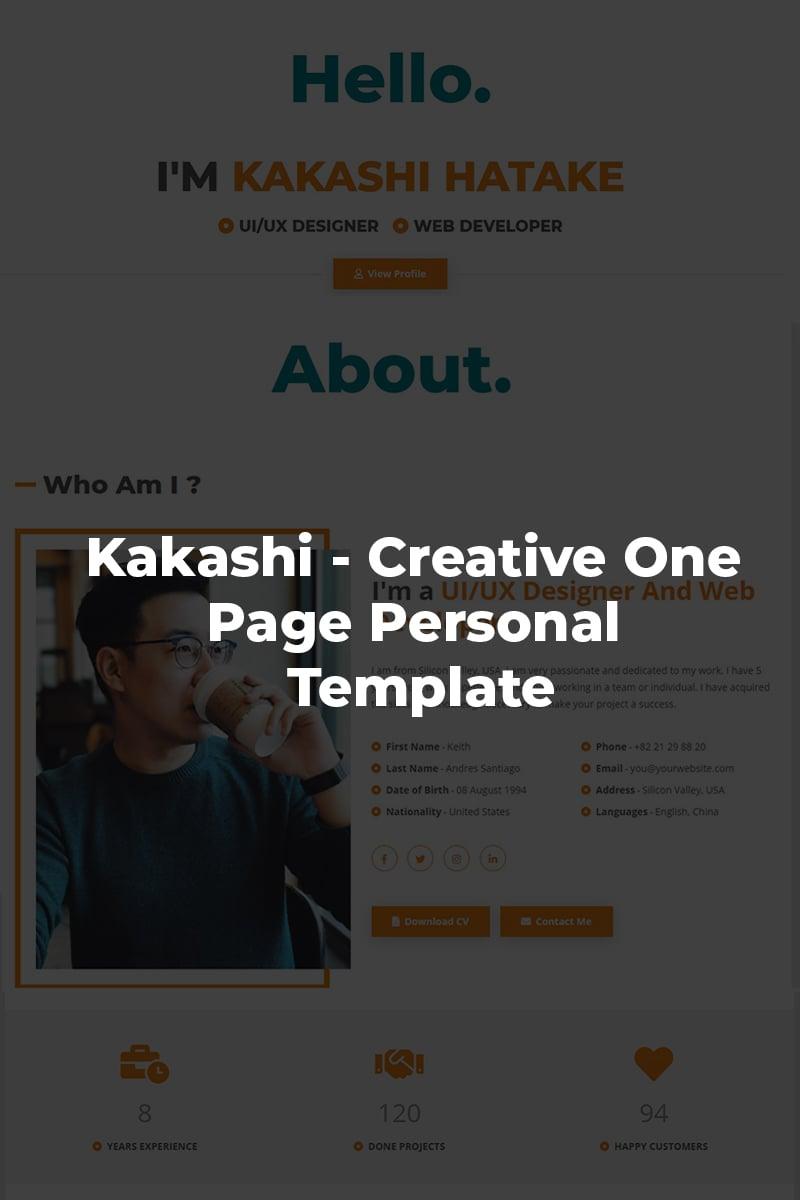 Kakashi - Creative Personal Landing Page-mall #87277