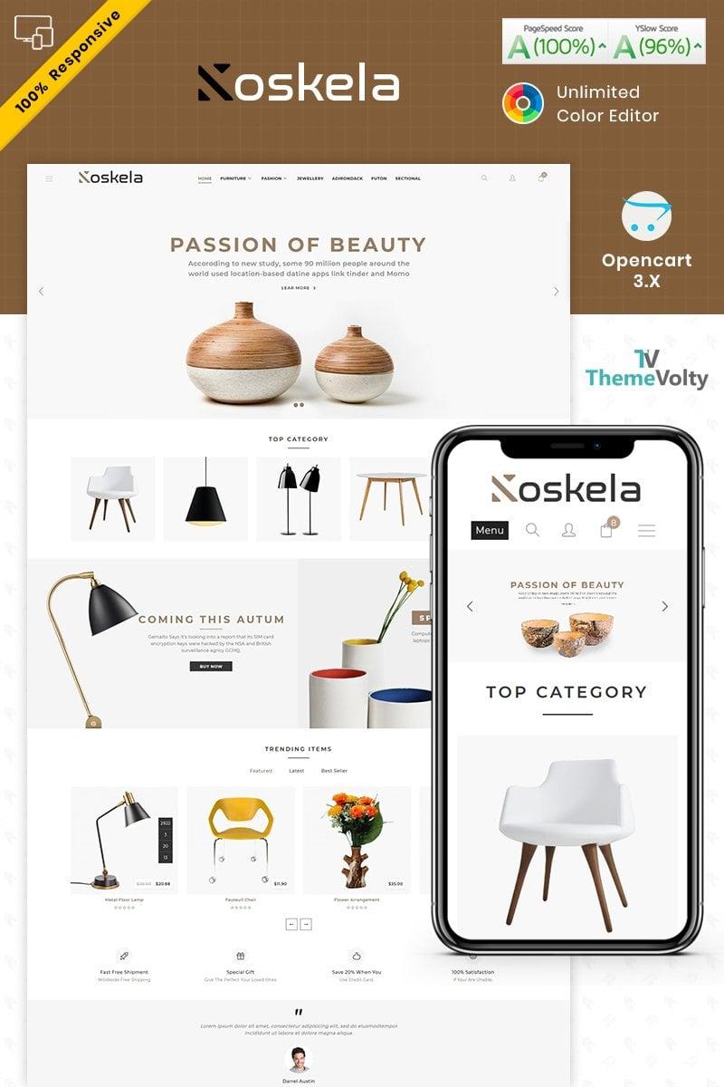 """Koskela - Furniture Store"" 响应式OpenCart模板 #87254"