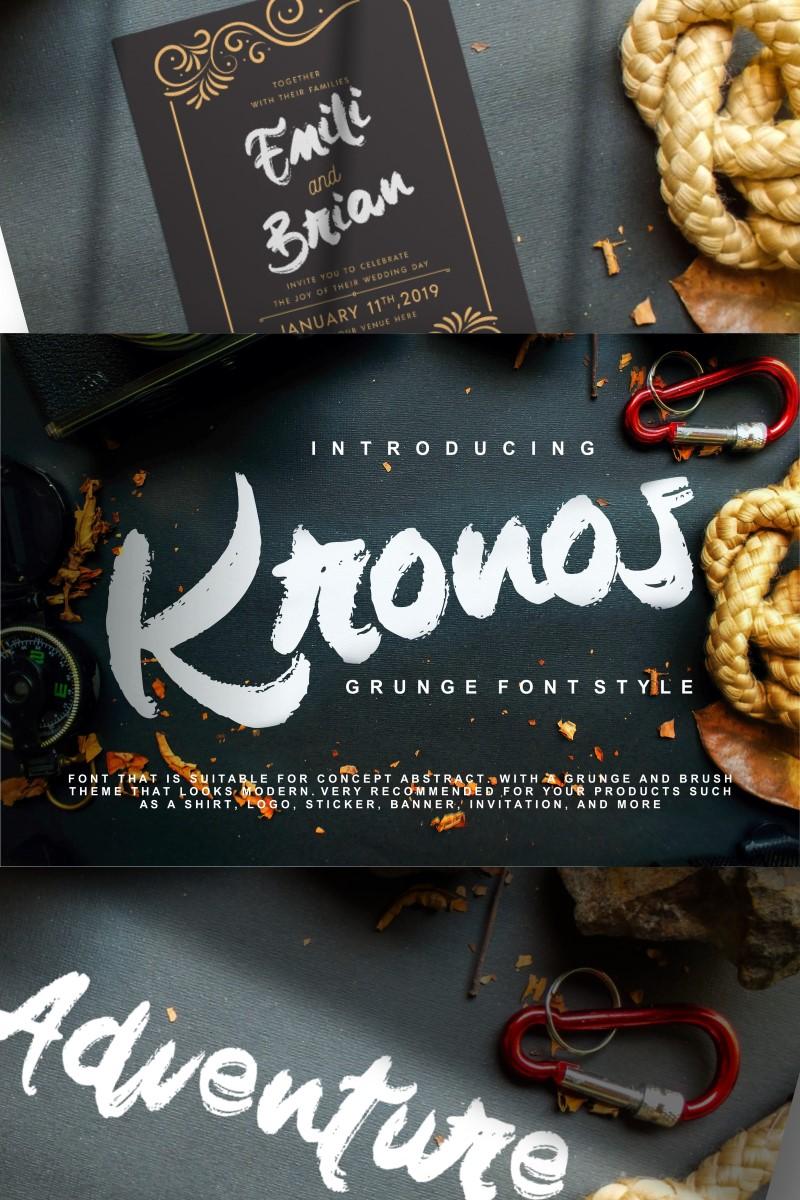 Kronos | Grunge Style Font