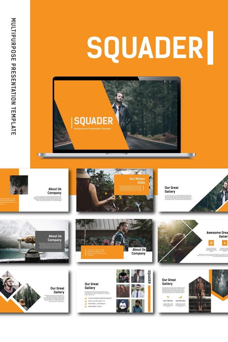 "Luxusní PowerPoint šablona ""Squader"" #87225"