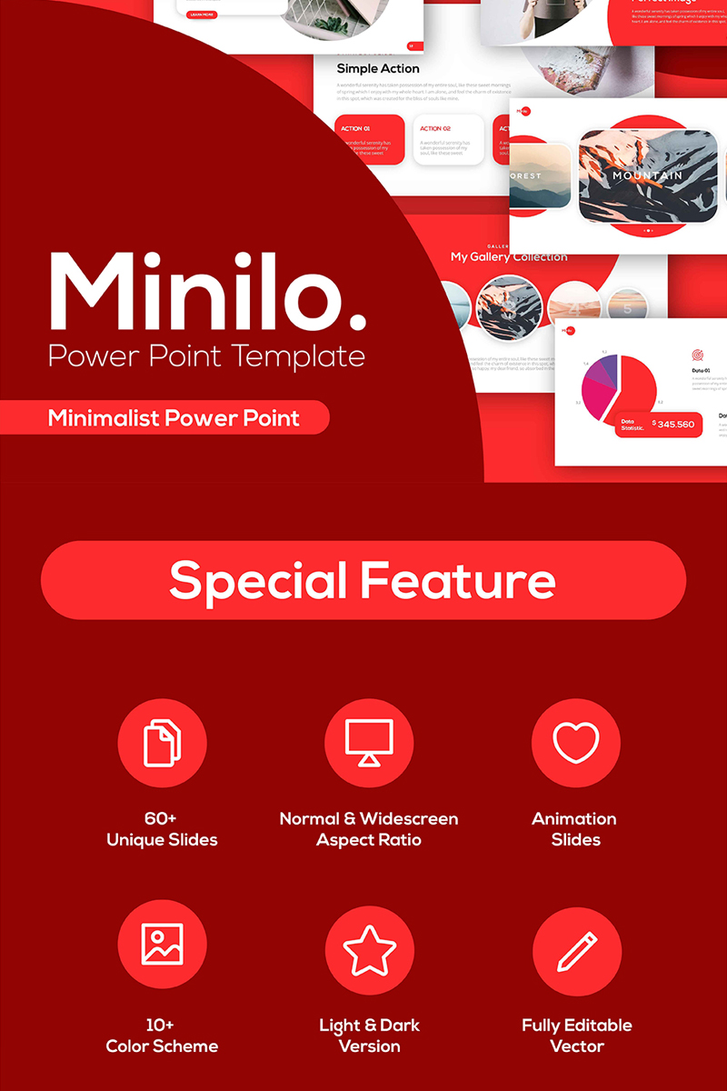"""Minilo Multipurpose"" PowerPoint Template №87226"
