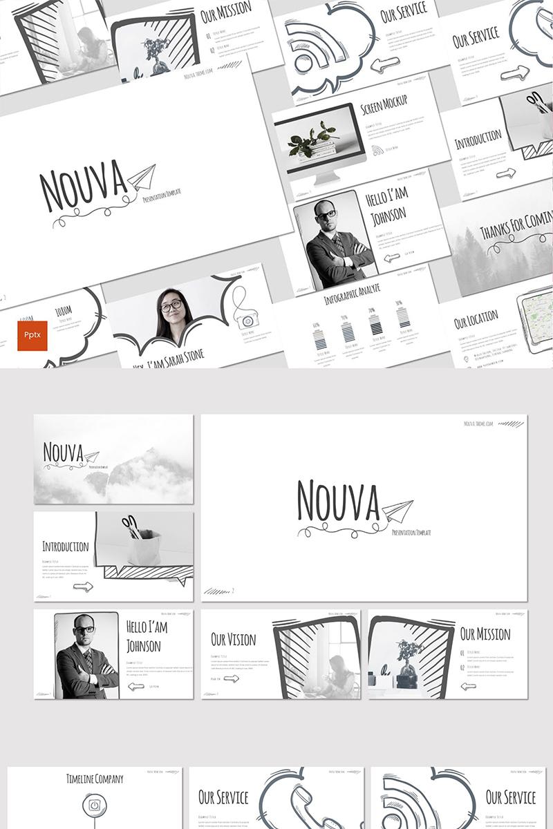 """""""Nouva"""" PowerPoint Template №87287"""