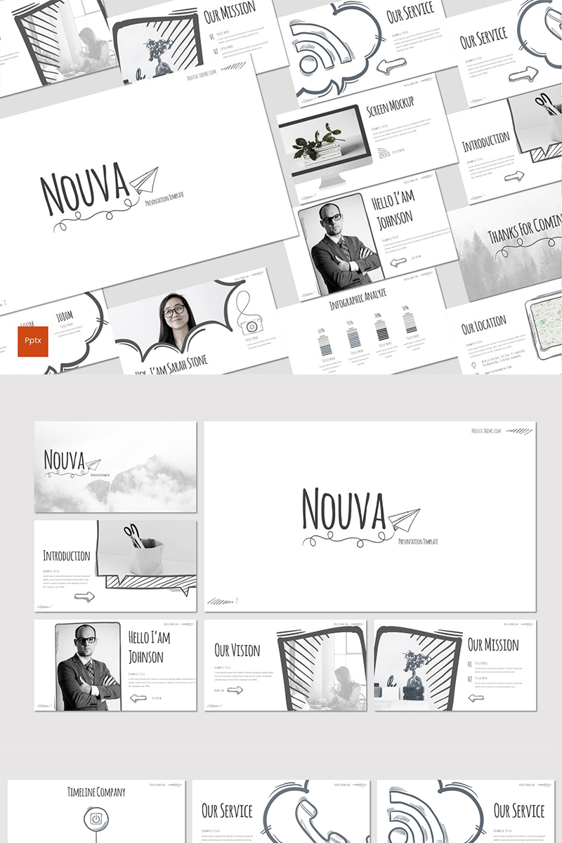 Nouva PowerPoint Template - screenshot