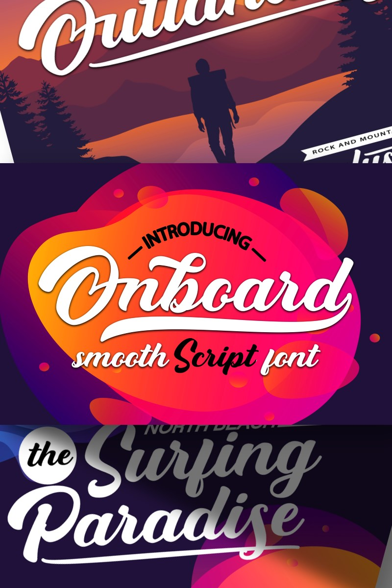 Onboard | Smooth Script Font #87218