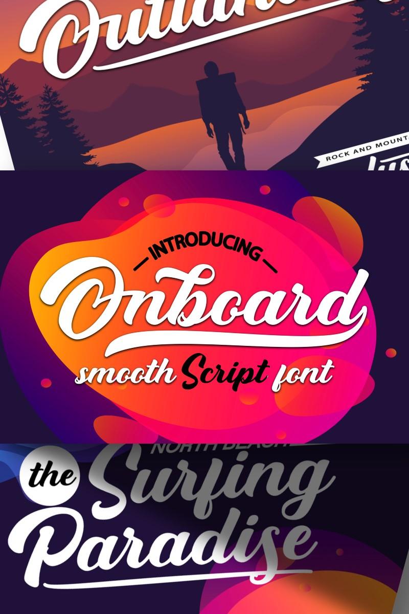 """Onboard | Smooth Script"" police de caractère  #87218"