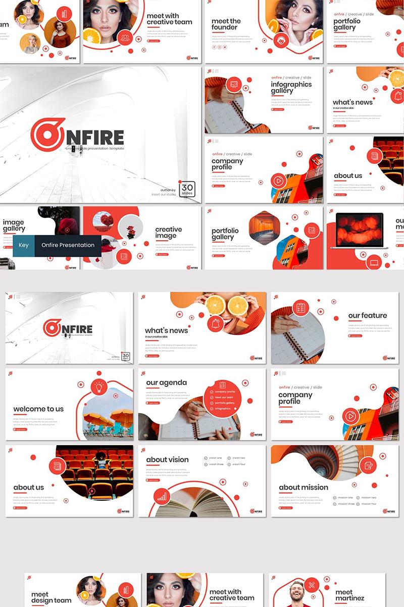 """Onfire"" modèle Keynote  #87267"