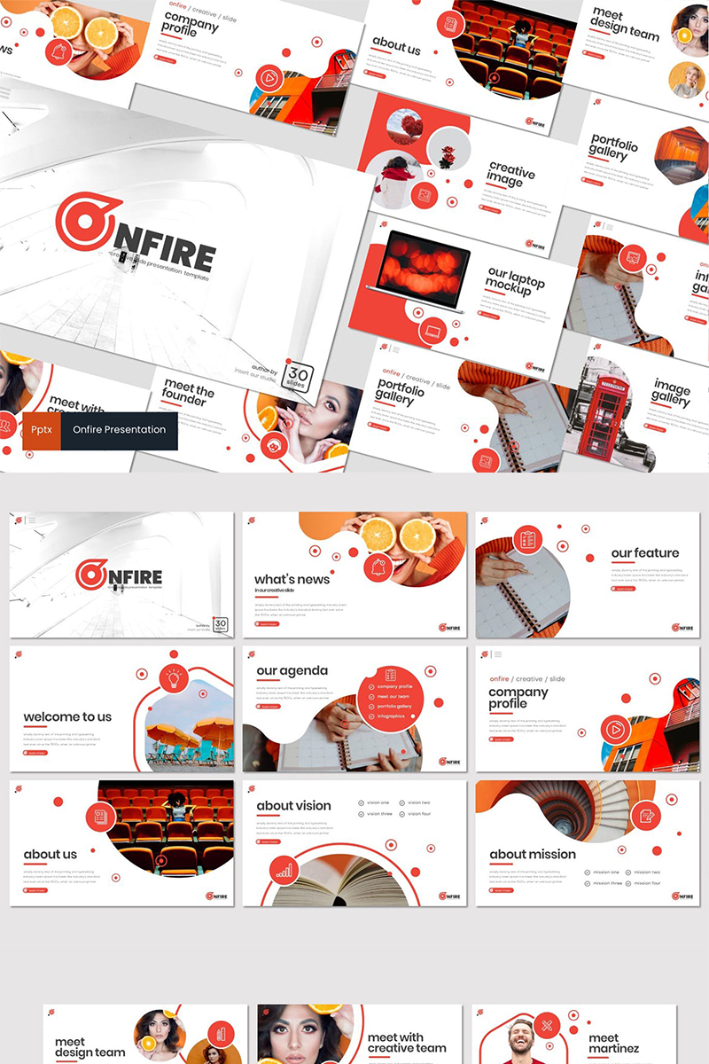 """Onfire"" PowerPoint Template №87286"