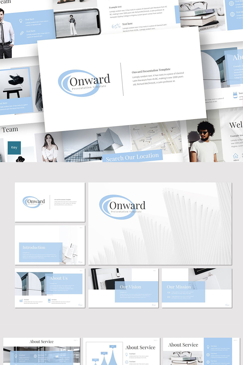 """Onward"" Keynote Template №87265"