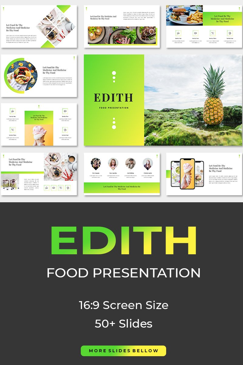 "Plantilla Keynote ""Edith Food"" #87266"