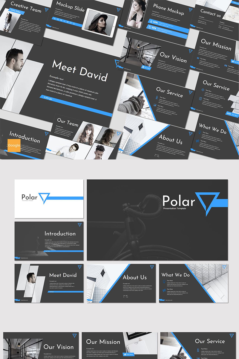 """Polar"" Google Slides №87271"