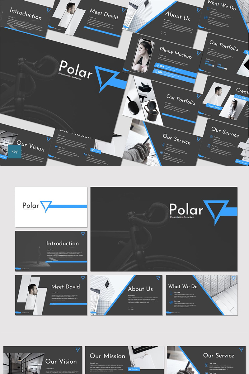 """Polar"" Keynote Template №87264"