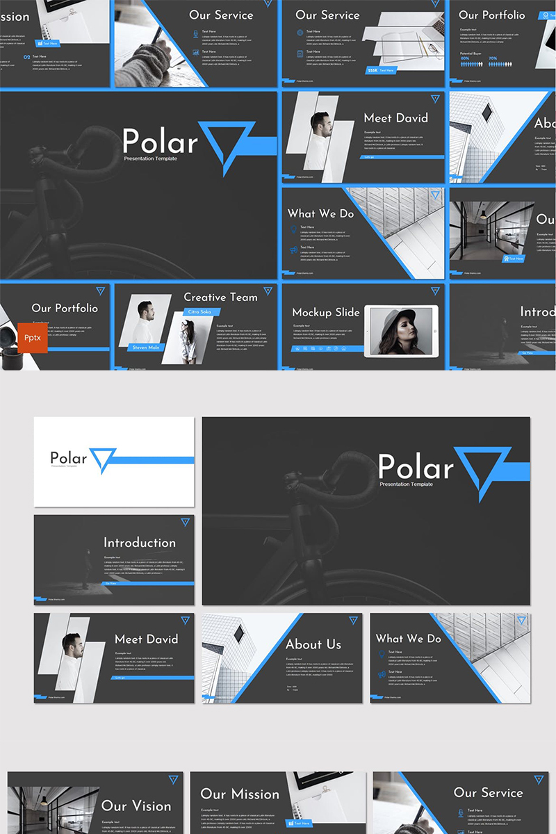 """Polar"" PowerPoint Template №87280"