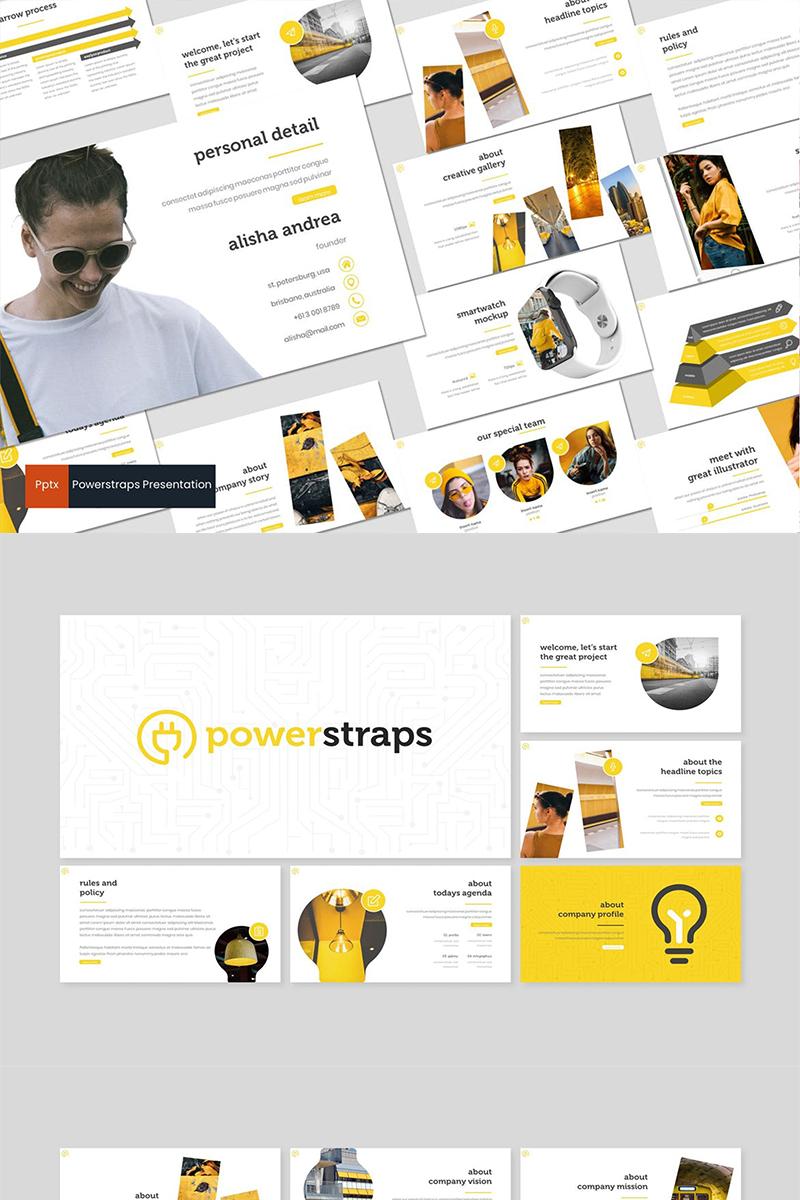 "PowerPoint šablona ""Powerstraps"" #87279"