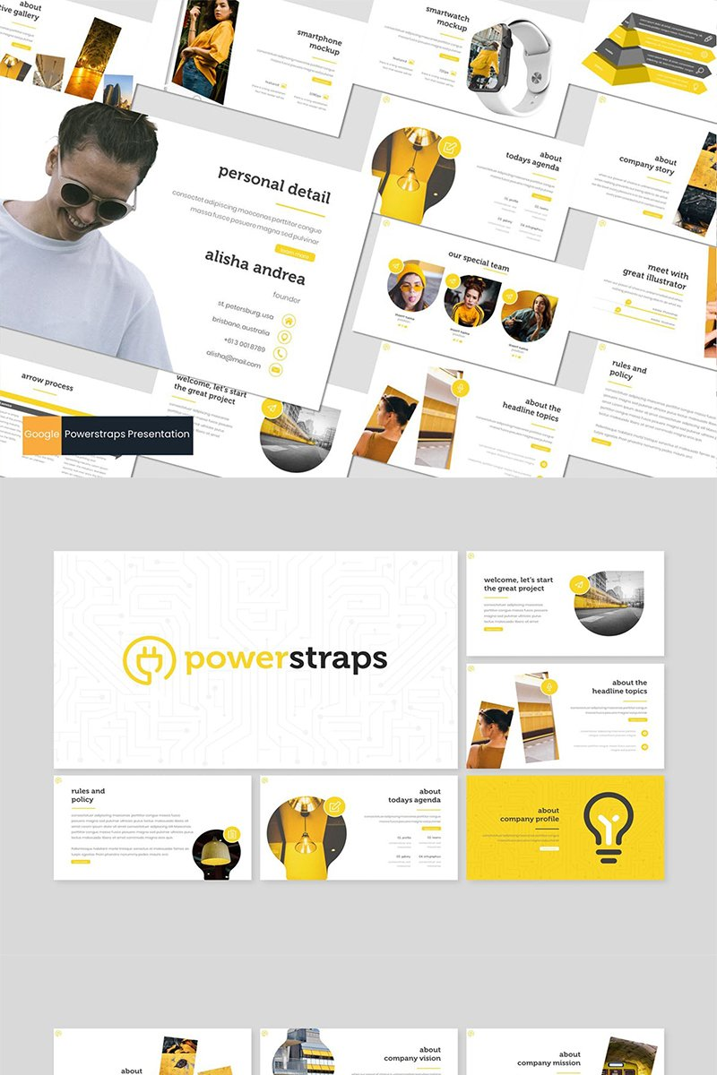"""Powerstraps"" Google Slides №87270"