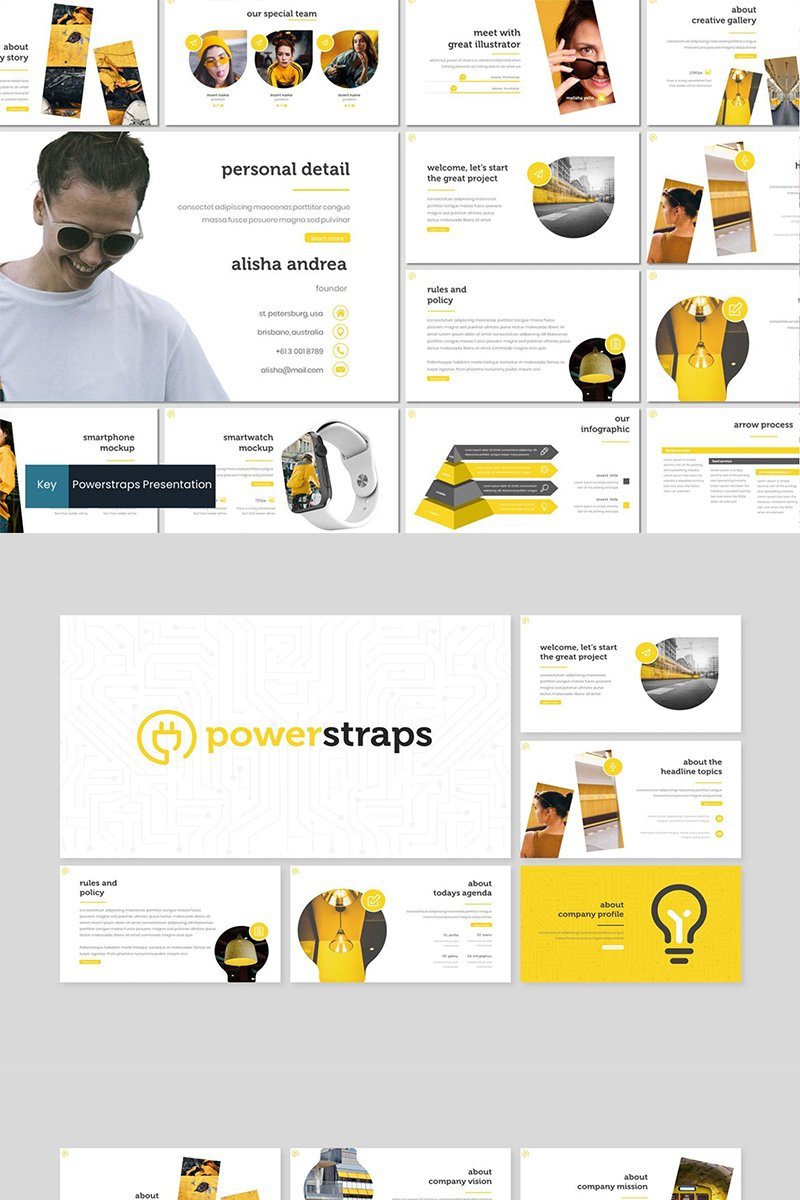 Powerstraps Keynote Template #87263
