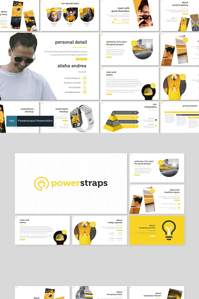 Powerstraps Template para Keynote №87263